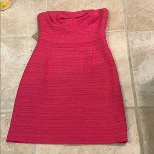 Trina Turk strapless pink dress 4